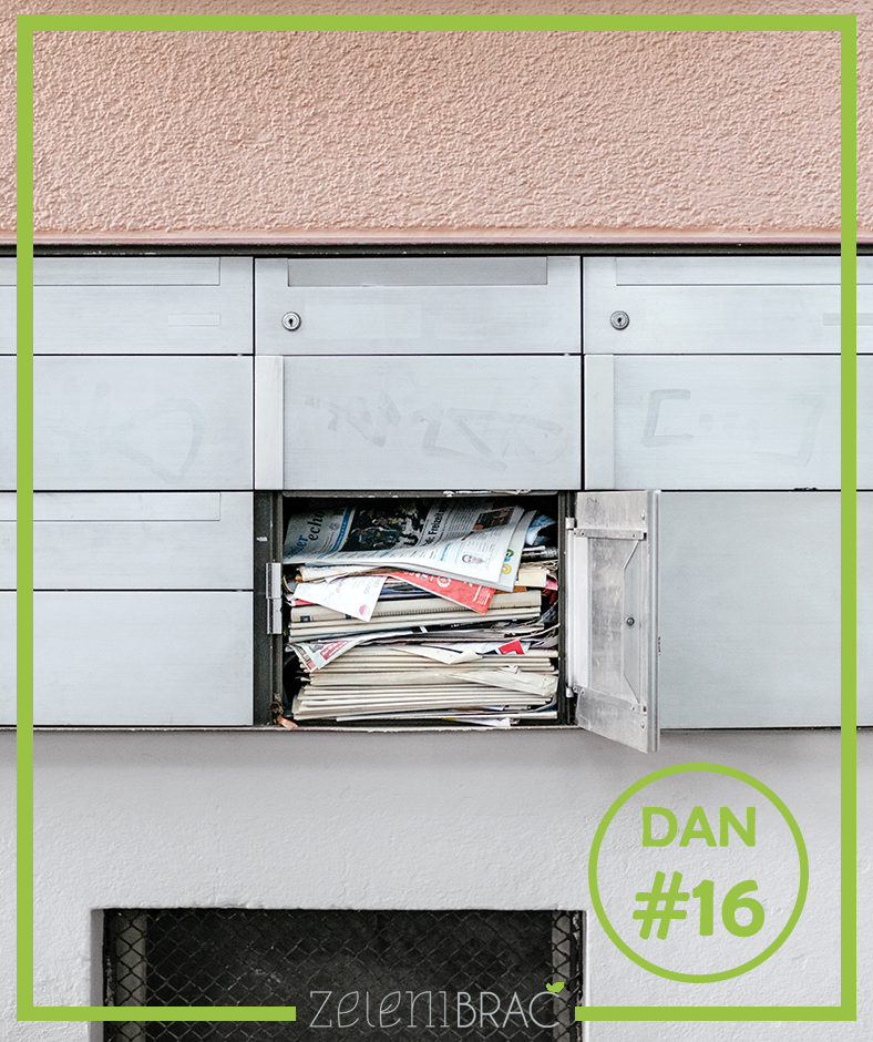 DAY # 16 | REFUSE AND / OR CANCEL JUNK MAIL