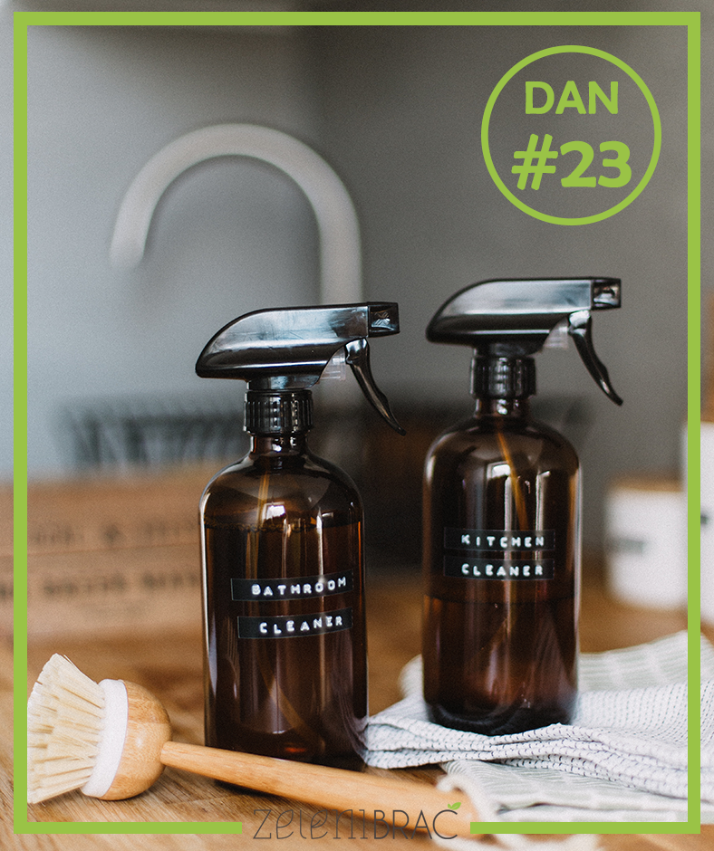 DAY # 23 | USE NATURAL CLEANING MATERIALS